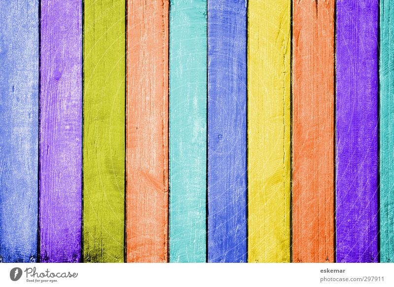 Wood in colour Stripe Painting (action, work) Esthetic Uniqueness Blue Brown Multicoloured Yellow Gold Green Violet Orange Pink Turquoise Colour colored