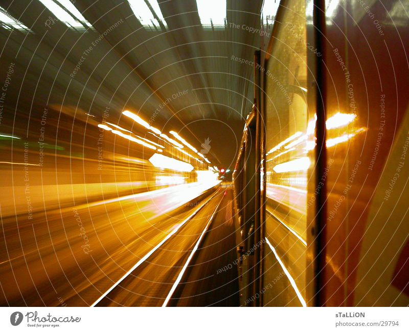 Orange Transport Railroad Speed Railroad tracks Paris Skylight