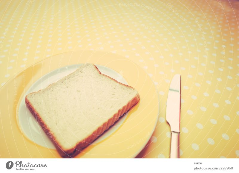 Yellow Food Table Nutrition Retro Dry Appetite Delicious Breakfast Bread Organic produce Trashy Fasting Tablecloth Cutlery Sense of taste