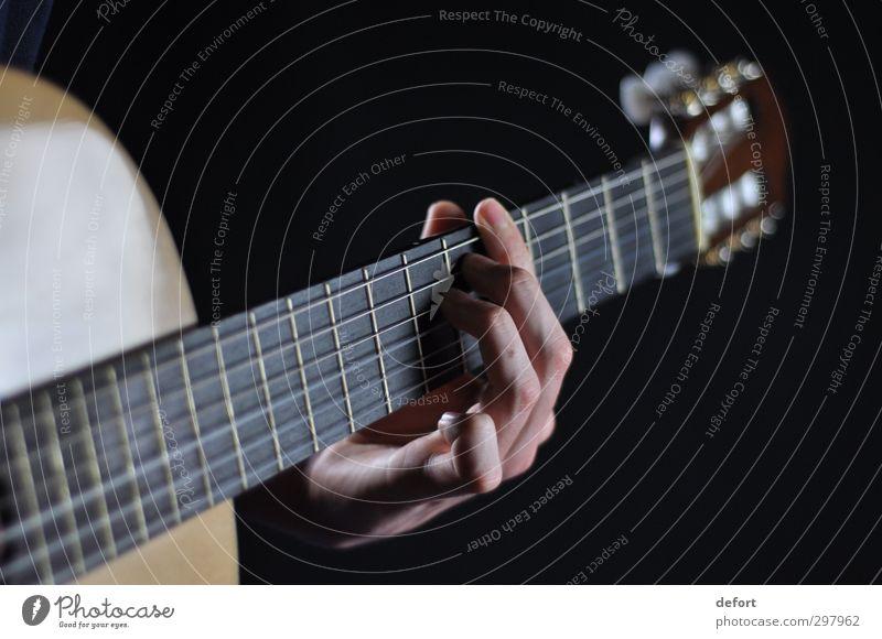 guitar Human being Hand Art Artist Event Music Concert Musician Guitar Joy Colour photo Interior shot Studio shot Close-up Detail Blur Shallow depth of field