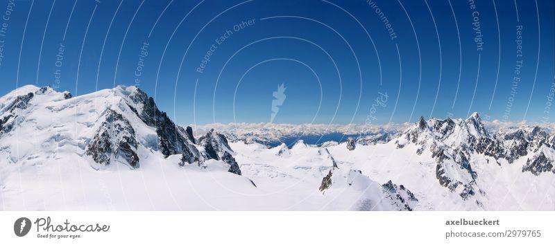Vacation & Travel Nature Landscape Winter Mountain Environment Snow Tourism Trip Vantage point Europe Beautiful weather Peak Alps Snowcapped peak France