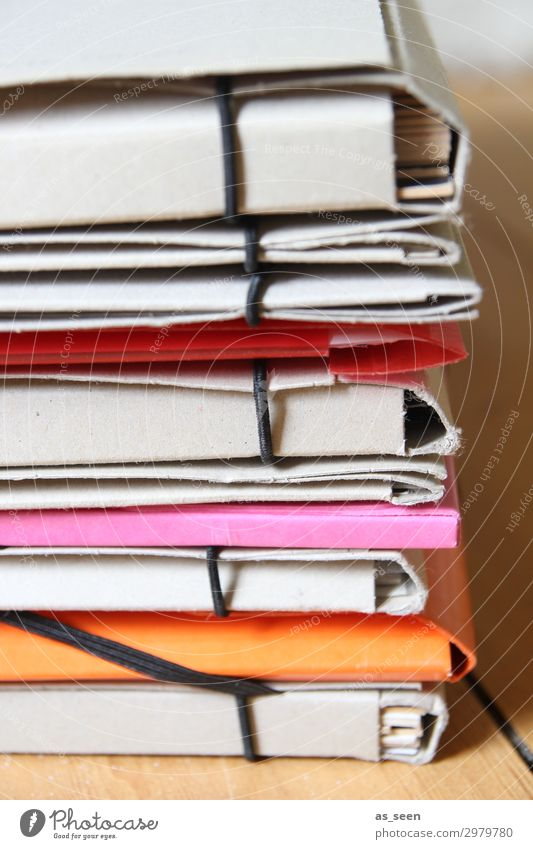 folders Handicraft Collection Folder Parenting School Office Media industry Stationery Paper Piece of paper Lie Authentic Bright Modern Brown Orange Pink Red