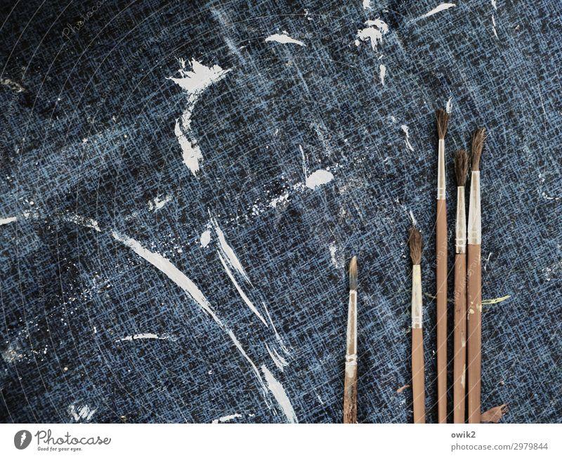 plastic Art Paintbrush Tablecloth Colour Patch of colour Daub Wood Plastic Arrangement Ready Enthusiasm Idea Identical Thin brush hairs Colour photo
