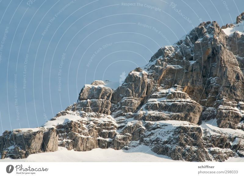 Sky Nature Landscape Winter Environment Mountain Cold Snow Rock Ice Beautiful weather Esthetic Elements Frost Alps Peak