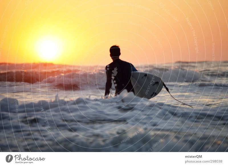 Man Water Ocean Art Freedom Contentment Waves Esthetic Drops of water Adventure Paradise Surface of water Surfing Portugal Aquatics Surfer