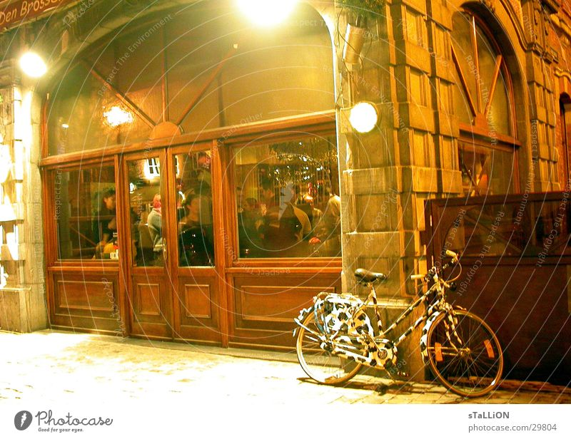 The wheel Bicycle Zebra Gastronomy Café Cozy Night Club Party Roadhouse Looven near Brussels university city Party goer