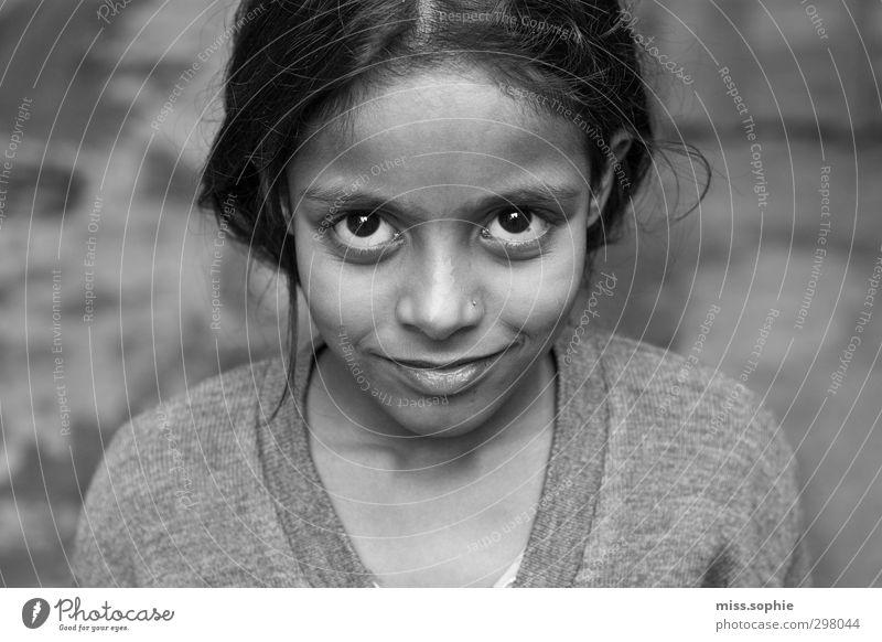 shiny. Face Feminine Girl Infancy Eyes Black-haired Smiling Laughter Illuminate Authentic Glittering Beautiful Happy Safety (feeling of) Hope Dream Infinity