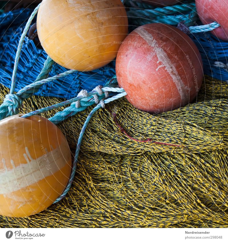Colours and shapes Work and employment Profession Navigation Fishing boat Plastic Sphere Knot Net Catch Hunting Sustainability Multicoloured Integrity Identity