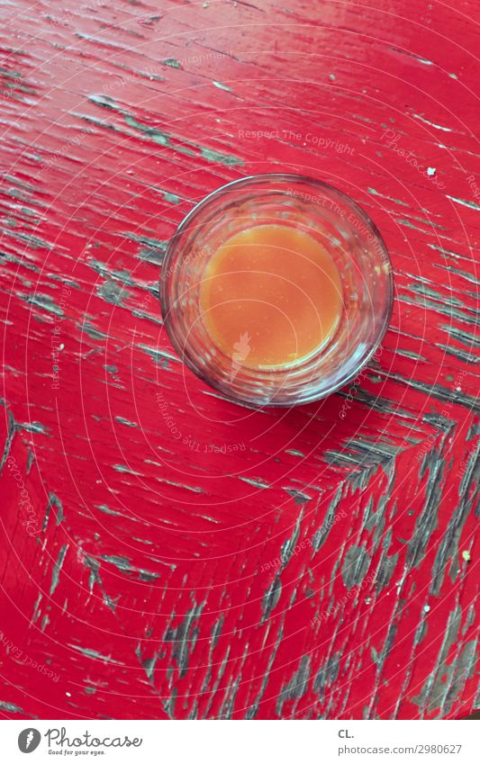 multivitamin juice Beverage Cold drink Juice Glass Healthy Eating Wood Esthetic Simple Fluid Fresh Delicious Retro Round Orange Red To enjoy Colour photo