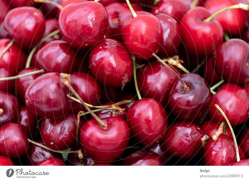 Sweet Cherries Background Fruit Dessert Summer Garden Industry Nature Spring Leaf Glittering Fresh Rich Juicy Sour Red Colour Cherry food cherry fruit Mature