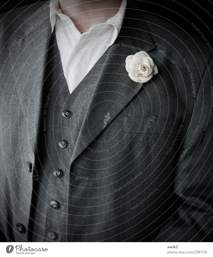 Human being Man White Adults Gray Style Fashion Open Masculine Elegant Closed Clothing 45 - 60 years Shirt Jacket Jewellery