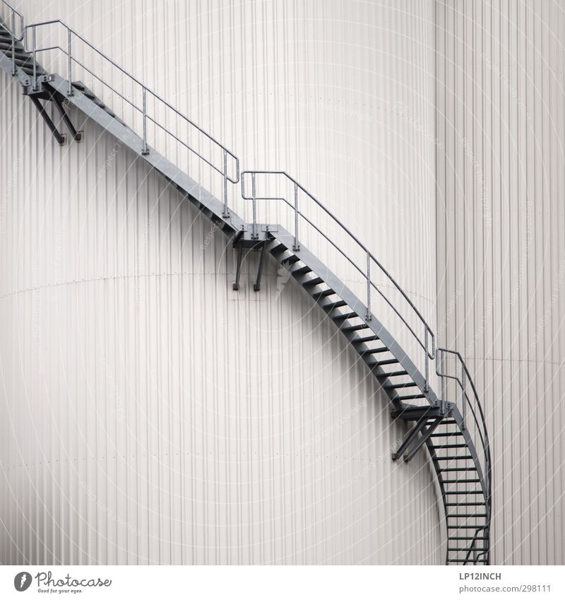 Gray Stairs Energy industry Growth Technology Industry Factory Science & Research Banister Go up Industrial plant High-tech Silo