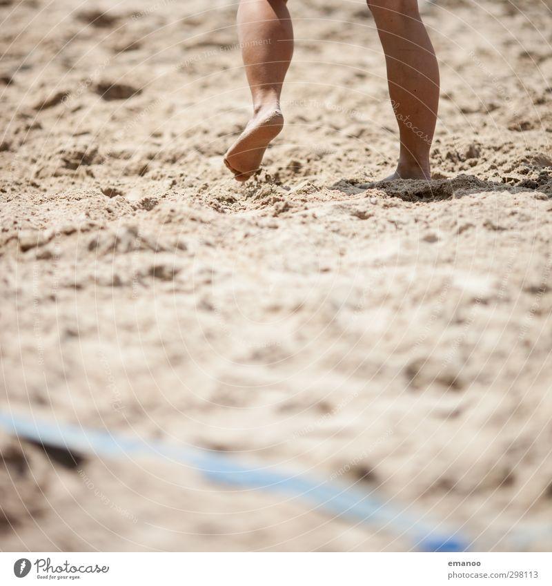 Human being Woman Vacation & Travel Summer Sun Joy Beach Adults Sports Feminine Playing Sand Legs Feet Line Skin