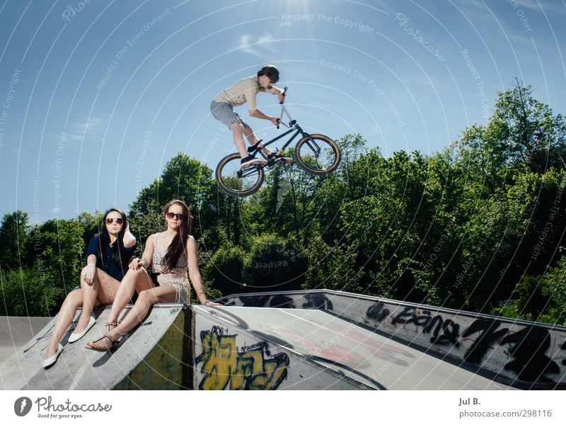 Human being Joy Sports Feminine Fashion Moody Masculine Lifestyle Concrete Cycling