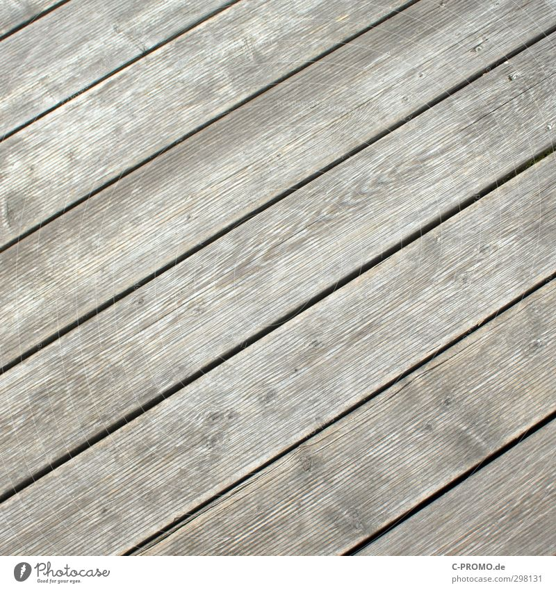 Diagonal planks Terrace Garden Wood Old Wooden floor Floorboards Weathered Wood grain Gray Colour photo Exterior shot Neutral Background Day
