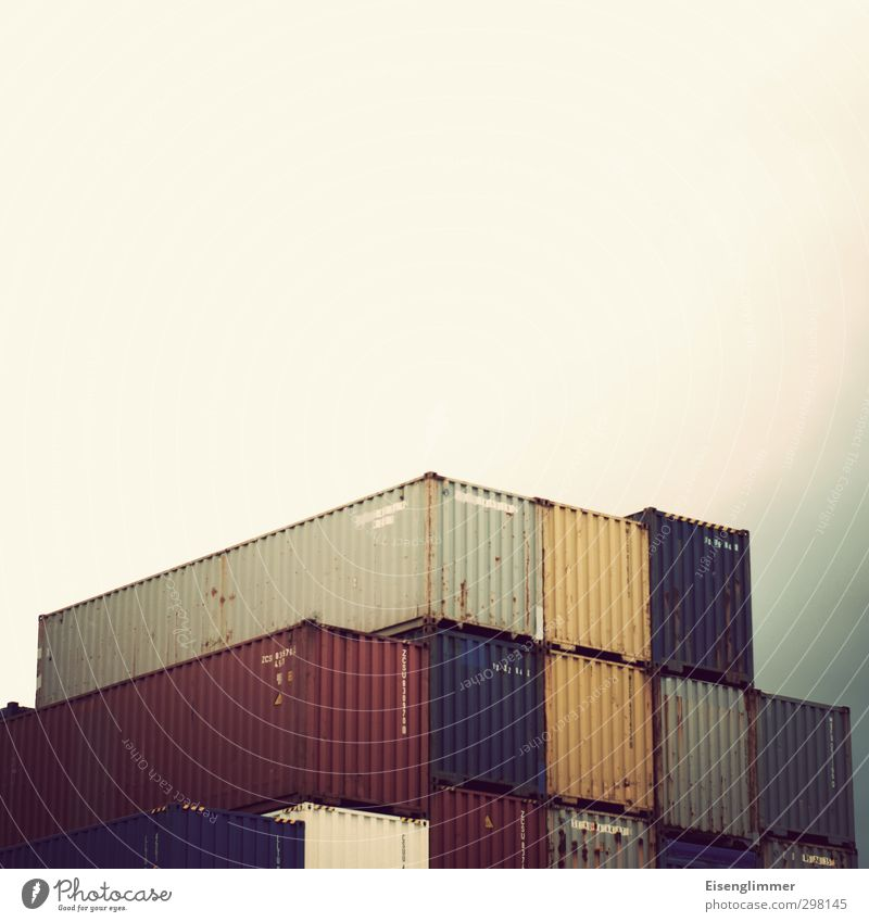 Gloomy Metalware Logistics Harbour Navigation Container Hideous Container terminal Container cargo