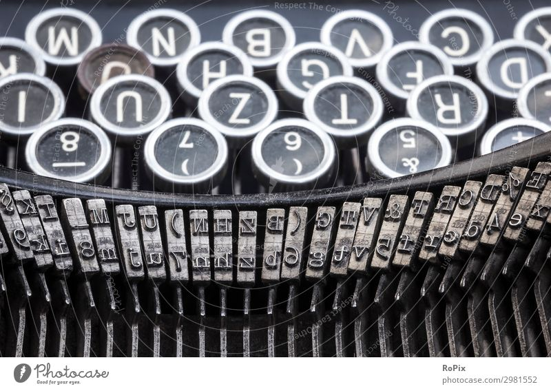 Historic Typewriter Lifestyle Style Design Education School Study Work and employment Profession Office work Workplace Economy Media industry
