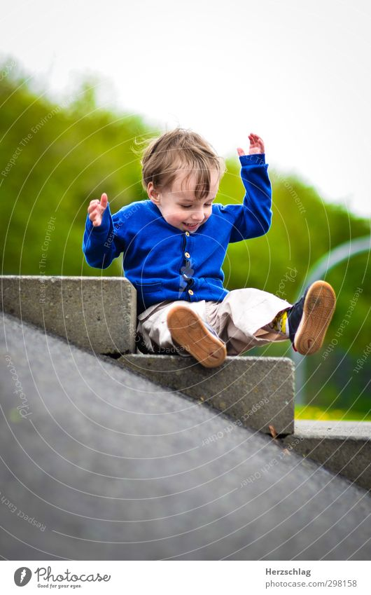 Human being Joy Laughter Playing Boy (child) Happy Small Flying Wild Authentic Fresh Speed Crazy Adventure Cute Cool (slang)