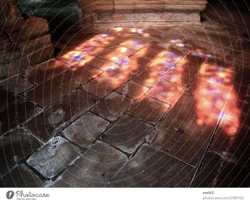 sanctus Church Manmade structures Building Room Wall (barrier) Wall (building) floor Stone Illuminate Old Firm Gigantic Glittering Bright Historic Under Blue