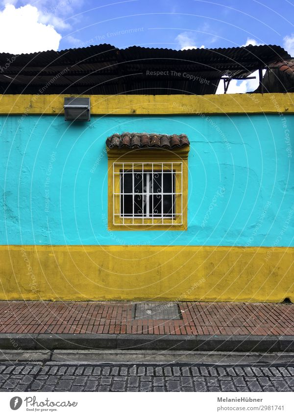 Window Bogota Colombia South America House Vacation & Travel Tourism Authentic Turquoise Street House (Residential Structure) Architecture Colour