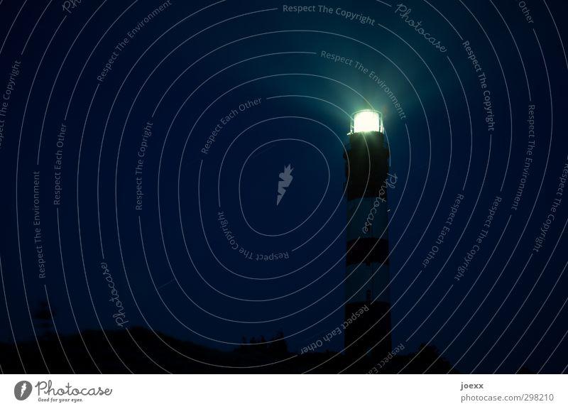 Blue Old White Black Yellow Bright Illuminate Tall Watchfulness Lighthouse Night sky Attentive Homesickness Amrum