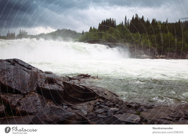 Nature Vacation & Travel Water Landscape Far-off places Dark Life Freedom Rock Rain Climate Energy Wet Elements Adventure River bank