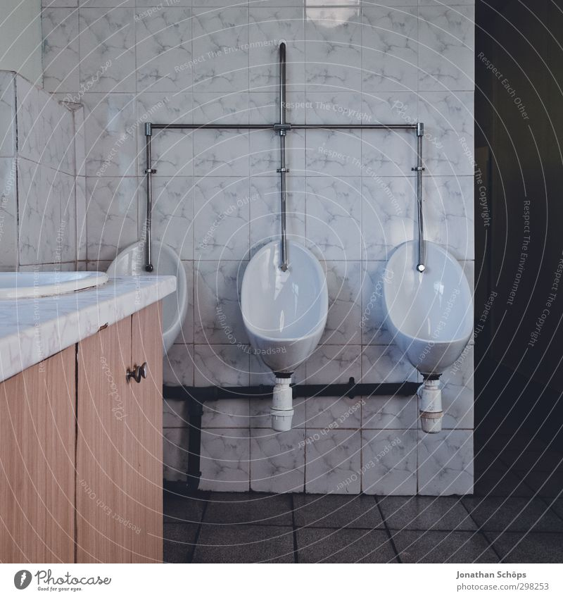 3 Wall (barrier) Wall (building) Old Exceptional Hideous Toilet Urinal Bathroom Male preserve Historic Urinate Basin Porcelain Sink Expressionless Gloomy Funny