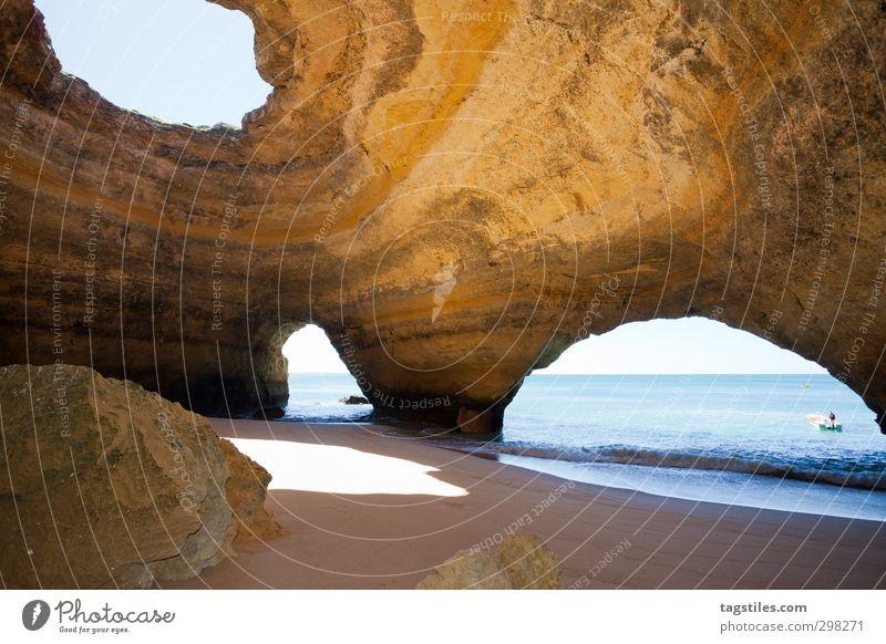 IO Portugal Algarve Cave sea caves Benagil Praia de Benagil rock salt Vacation & Travel Travel photography Idyll Card Tourism Paradise Beach Sand Ocean
