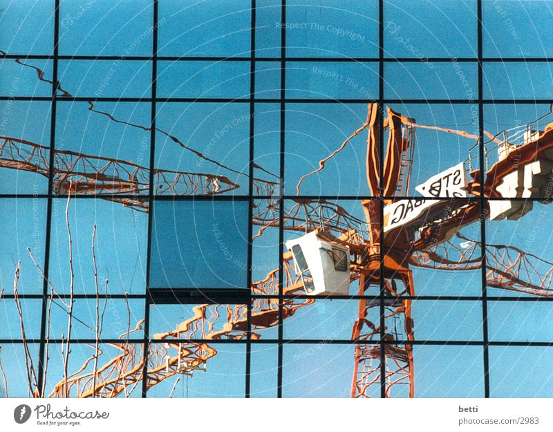 Architecture Glass High-rise Crane