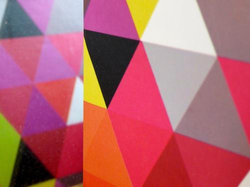 rough edges... Art Ornament Esthetic Sharp-edged Multicoloured Triangle Pattern Cardboard Graphic Design Geometry Corner Colour photo Deserted