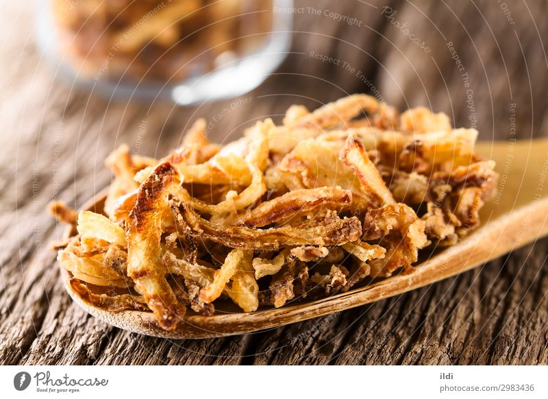 Crispy Fried Onion Strings Vegetable Spoon Fresh food string strings onion strings roestzwiebeln crispy Crunchy battered floured Snack topping garnish Home-made