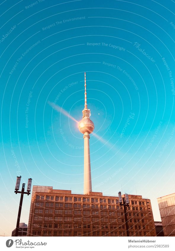 Berlin Television Tower Alexanderplatz Capital city Landmark Television tower Discover Blue Shopping Tourism Inspection Looking Colour photo Multicoloured