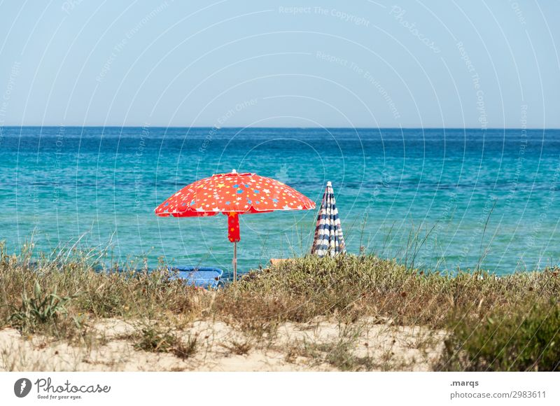 Vacation by the sea Beautiful weather Sunlight Summer vacation Vacation & Travel recover Sunshade Hot Sky Vacation mood Ocean Beach