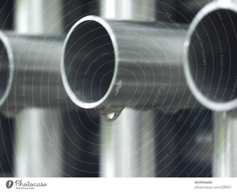 pipe frame Work of art Industry Metal Drops of water Macro (Extreme close-up) capilar