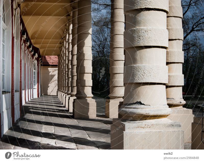 Old, thick and round merseburg Saxony-Anhalt Germany Small Town Old town Manmade structures Architecture Column portico Tourist Attraction Fat Together Gigantic