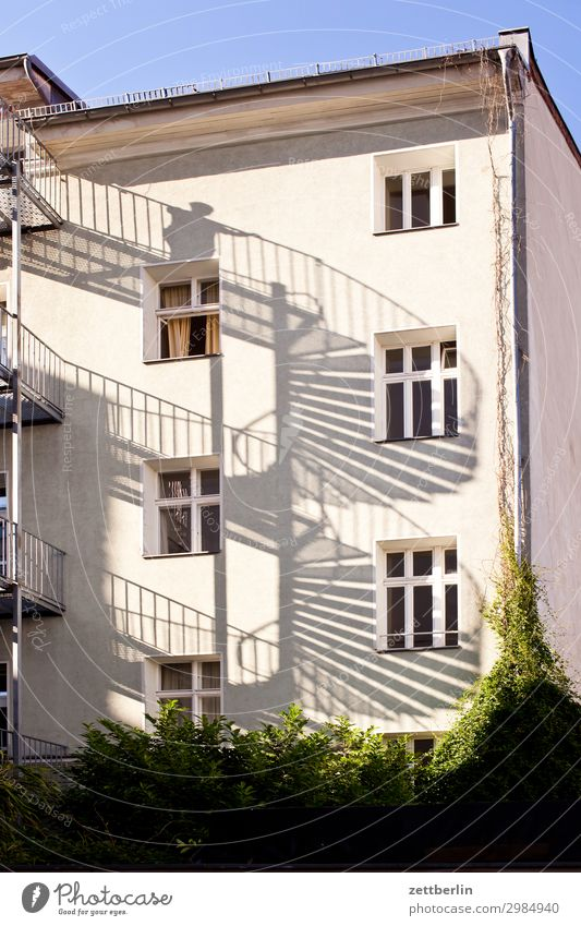 spiral staircase House (Residential Structure) Apartment Building Tower block Apartment house Living or residing Residential area Town Berlin Downtown Berlin