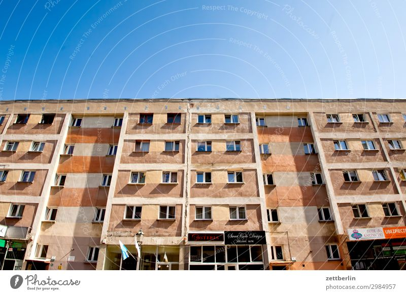 Sky Heaven Town House (Residential Structure) Window Copy Space Facade Living or residing Flat (apartment) Picturesque Apartment Building Tower block Derelict
