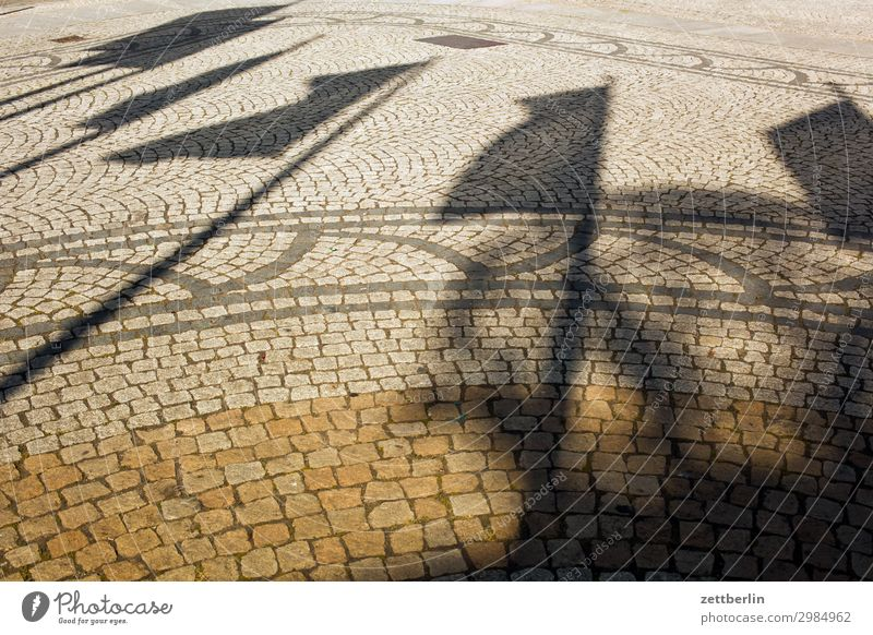 flags Old Old town Ancient legnica Picturesque Poland Silesia Town Places Marketplace Light Shadow Flag Wind Blow Paving stone Cobblestones Deserted Copy Space