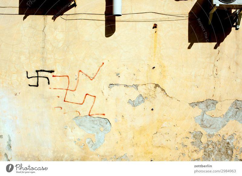 Wall (building) Copy Space Wall (barrier) Symbols and metaphors Ruin Daub Vandalism Fascist Decompose National socialism Swastika Fascism