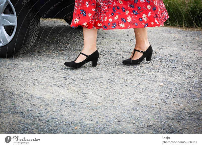 parking space Lifestyle Elegant Style Going out Fairs & Carnivals Wedding Birthday Feminine Woman Adults Women`s feet Woman's leg Feet 1 Human being Places