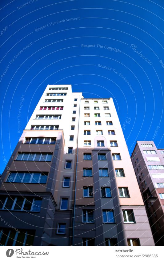 Sky Heaven House (Residential Structure) Window Copy Space Facade Perspective Apartment Building Cloudless sky Tower block Story Residential area