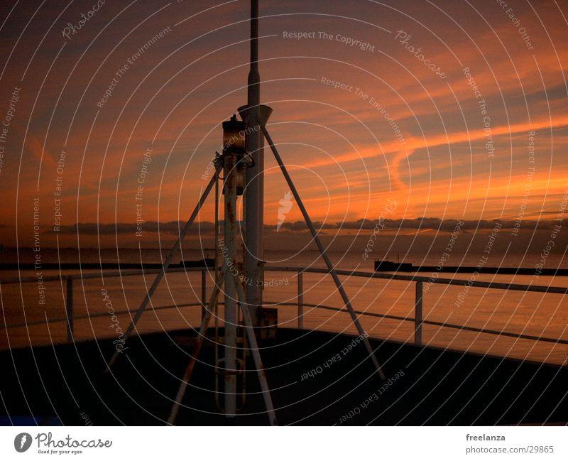 Sunset Watercraft Vacation & Travel Romance Navigation USA Dusk