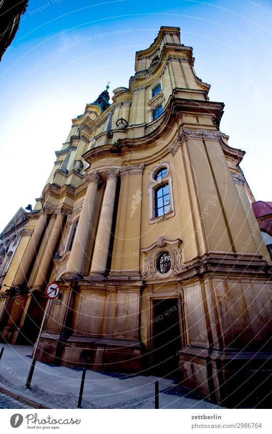 Baroque church (Legnica) Old Old town Ancient House (Residential Structure) Religion and faith Church legnica liegnitz Picturesque Poland Silesia Town Palace