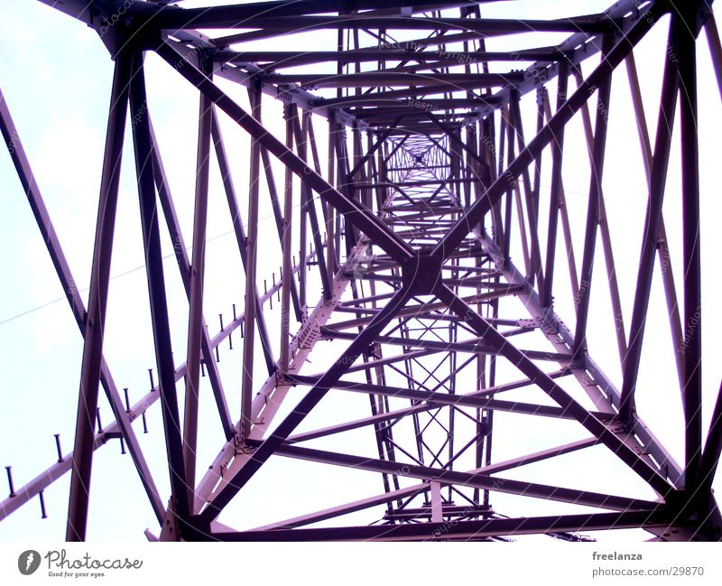 stream Electricity High voltage power line Steel Industry Energy industry Tall Scaffold