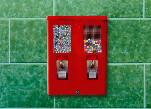 Green Red Metal Retro Infancy Shopping Historic Money Candy Select Tile Sharp-edged Nostalgia Rotate Packaging Fast food