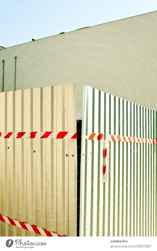 corrugated-iron fence Fence Border Corrugated sheet iron Corrugated iron wall Corrugated iron roof Corrugated-iron hut Construction site Barrier flutterband Red