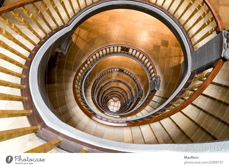 spiral staircase Town Port City Deserted Architecture Stairs Stone Wood Exceptional Historic Brown Staircase (Hallway) Winding staircase helical hand runner
