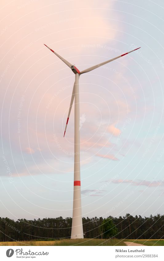 Sky White Red Clouds Forest Pink Field Energy industry Technology Stand Wind Future Tall Point Industry