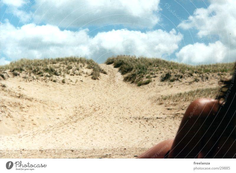 Give me the warm shoulder. Beach Vacation & Travel Bikini Clouds France Woman Sun Beach dune