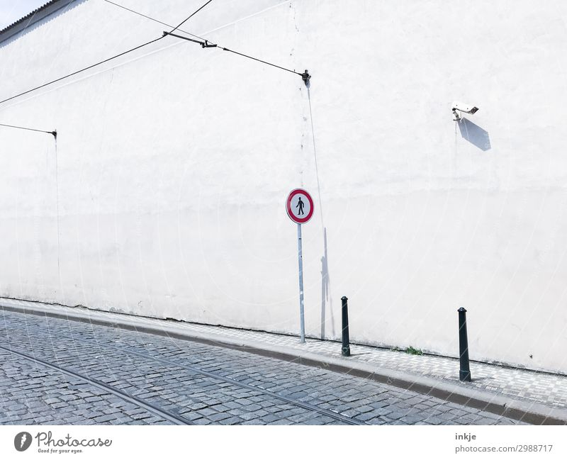 CL likes the Video camera Surveillance camera Technology Town Old town Deserted Wall (barrier) Wall (building) Transport Traffic infrastructure